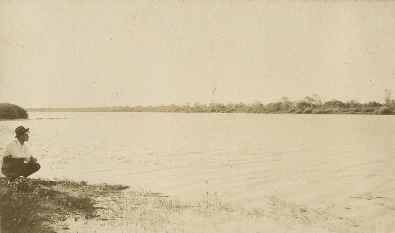 View of Lake Nash Northern Territory in better times ca. 1925 SLQ